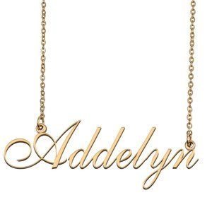 Custom Personalized Addelyn Name Necklace